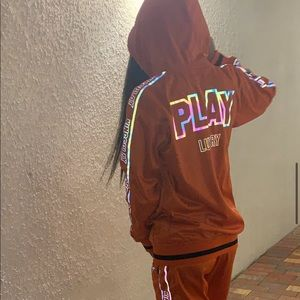 KingsPlay Deluxe Orange Holographic Tracksuit